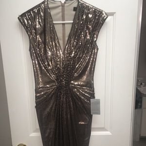 Brand new Bronze/gold sequin tadashi dress